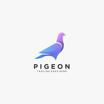 비둘기 아름다운 포즈 로고.