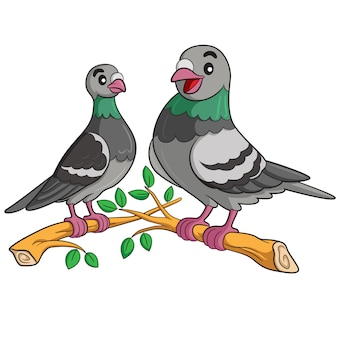 Pigeon cartoon