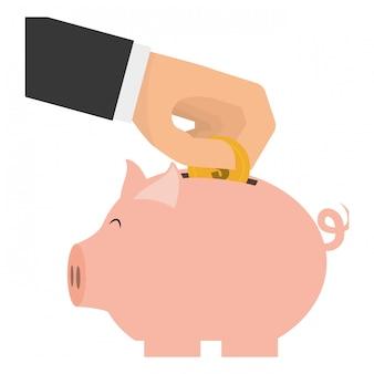 Piggy bank clip-art image