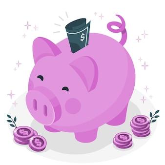 Piggy bankconcept illustration