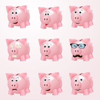 Piggy bank emotions