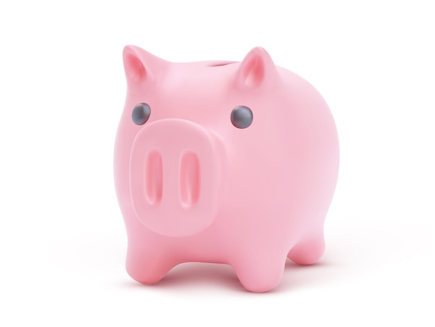 Piggy bank, financial savings and banking economy, long-term deposit investment,  illustration