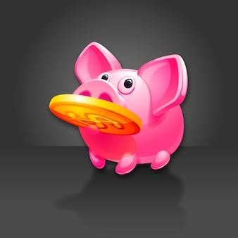 Piggy bank found money