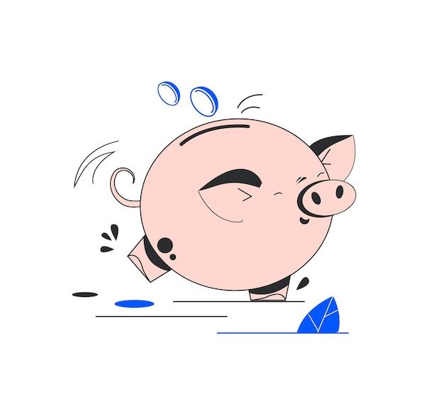돼지 저금통 아이콘 저축 또는 돈 투자의 축적 아이콘 돼지 저금통