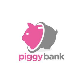 Piggy bank logo template