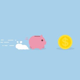 Копилка работает на деньги, бизнес-концепция