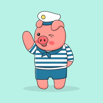 Поросенок моряк