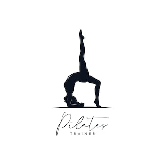 Пилатес йога логотип фирменный дизайн
