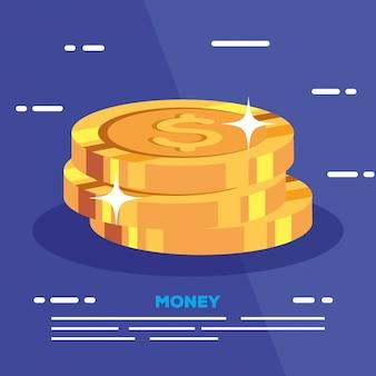 Куча монет долларовые деньги