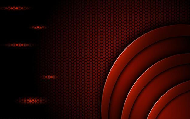 光の効果で赤い円の背景を山します。