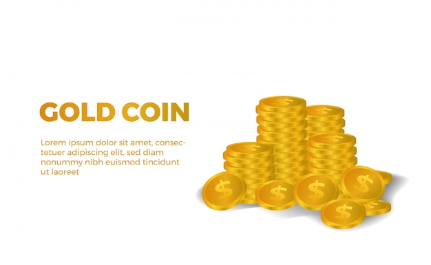 Piles of much 3d golden dollar money illustration shiny