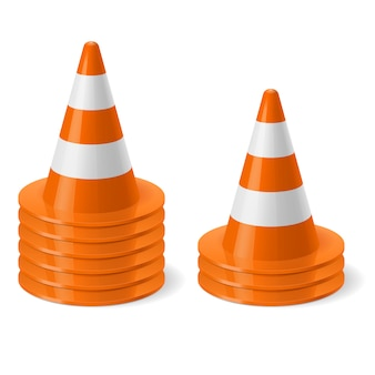 Piles of road cones