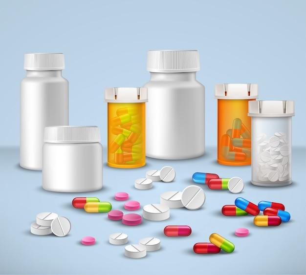 Set di bottiglie pillola