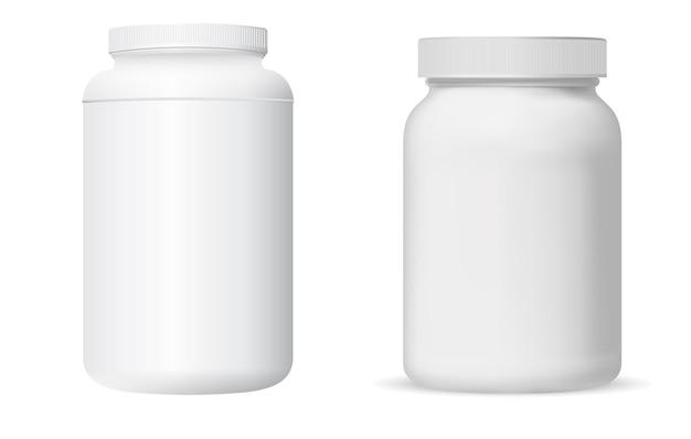 Баночка для таблеток. пакет витаминных добавок.
