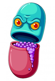 Pill or medicine cartoon character