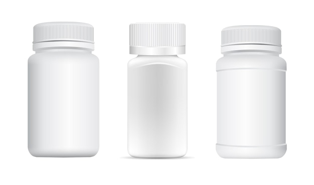 Pill tub. supplement bottle  , capsule jar, small container sample 3d  .