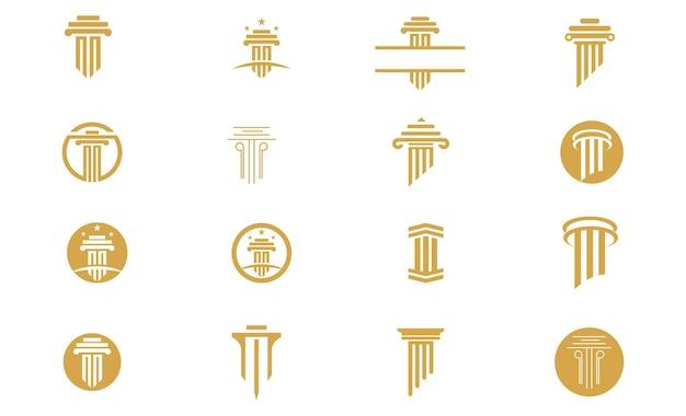 Pillar column logo and symbol vector