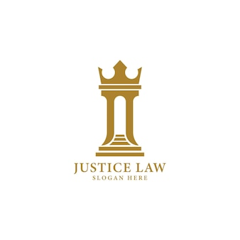 Pillar crown attorney law office logo design inspiration