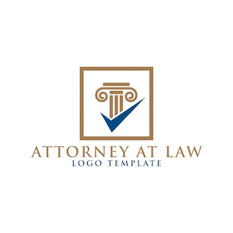 Pillar element attorney at law logo design