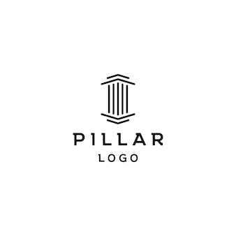 Pillar icon design. creative pillar logo design vector related to attorney, law firm, lawyers, building, architect or university