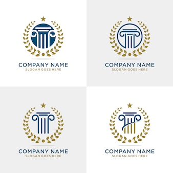 Pillar law firm logo template