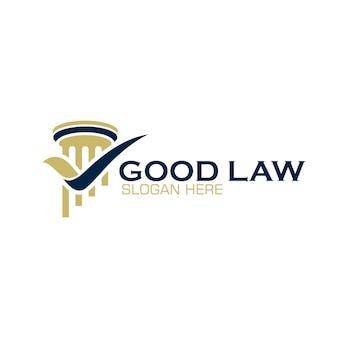 法律事務所、弁護士または大学のための柱のロゴデザイン