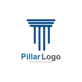 Шаблон логотипа столба
