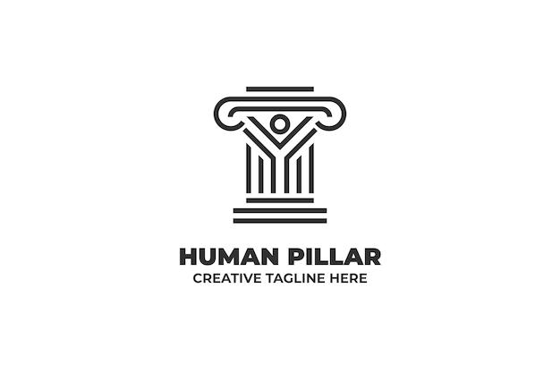 Pillar medieval ancient building logo