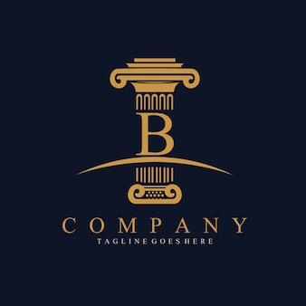 Столб с шаблоном дизайна логотипа b