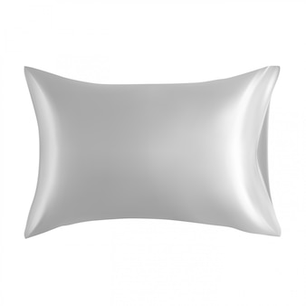 Pillow blank, white cushion design mockup isolated
