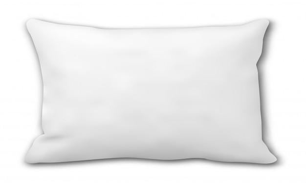 Pillow . rectangular bed cushion blank