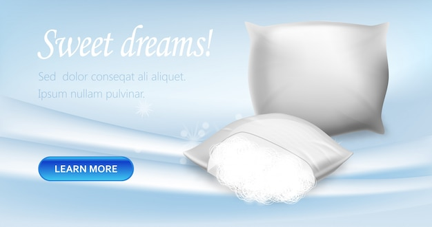Pillows with hypoallergenic protection banner