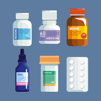 Pills clipart collection