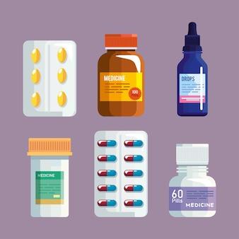 Pills clipart set