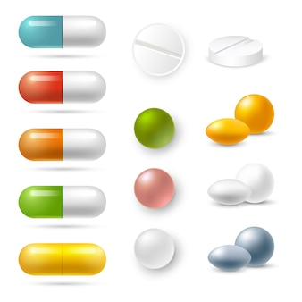 Pills icons set