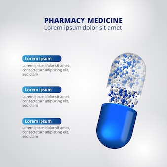 Pills pharmacy illustration data infographic template