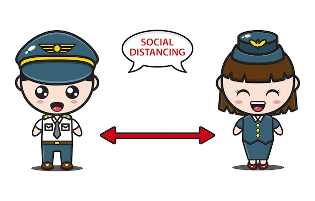 Pilot and attendant social distancing