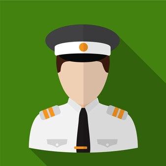 Pilot flat icon illustration isolated vector sign symbol