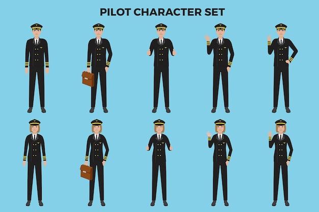Набор пилотных иллюстраций