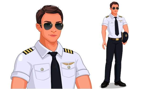 Pilot in standing pose