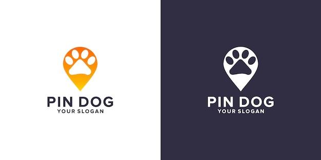 Pin dog logo template