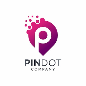 Pin dot logo design