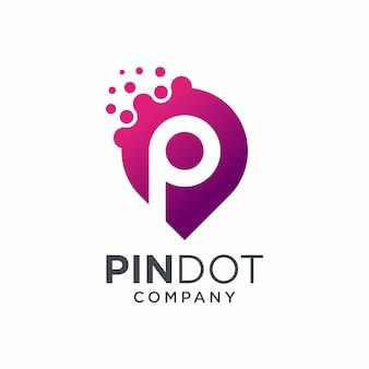 Дизайн логотипа pin dot
