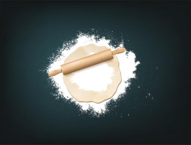 Pin dough flour