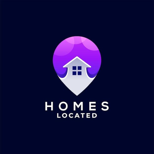 Дизайн логотипа градиента с булавкой