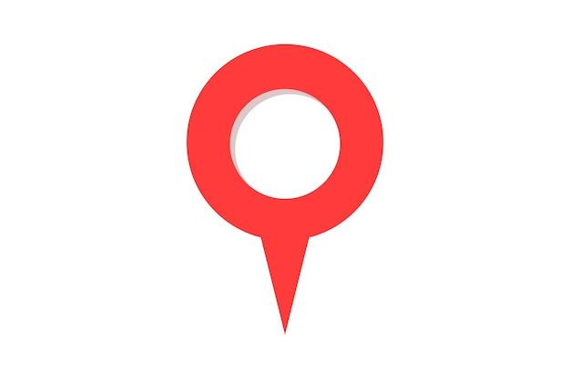 Pin map place location icon. gps navigation position pointer marker destination label element. vector flat element illustration
