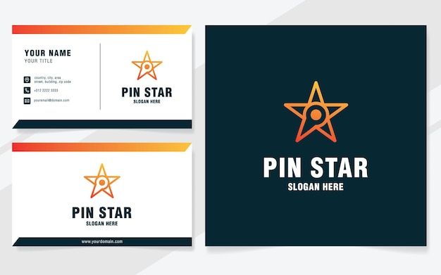Шаблон логотипа булавки звезда в современном стиле