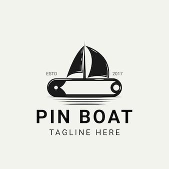 Pin with sailboats logo design inspiration