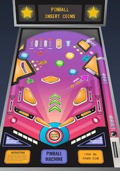 Illustrazione di flipper slot machine