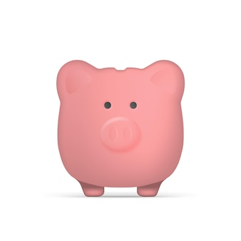 Pinc piggy bank in the form of pigs. piggy bank for money. isolated.